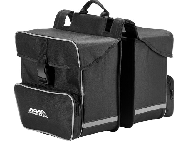 Red Cycling Products Premium Double Bag Draagbare Fietstas, black